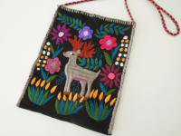 メキシコ シナカンタン刺繍バック【鹿】