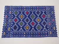 メキシコ 織りクロス 【サンアンドレスララインサール ブルー】