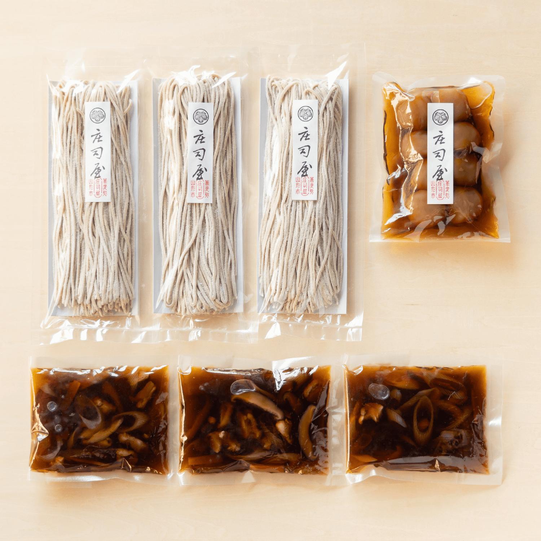 【秋の味覚セット】新そば けんちんつけそばと玉こんにゃくの商品写真