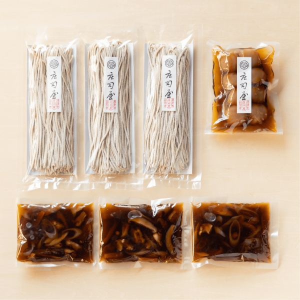 【秋の味覚セット】新そば けんちんつけそばと玉こんにゃくの通販用サムネイル