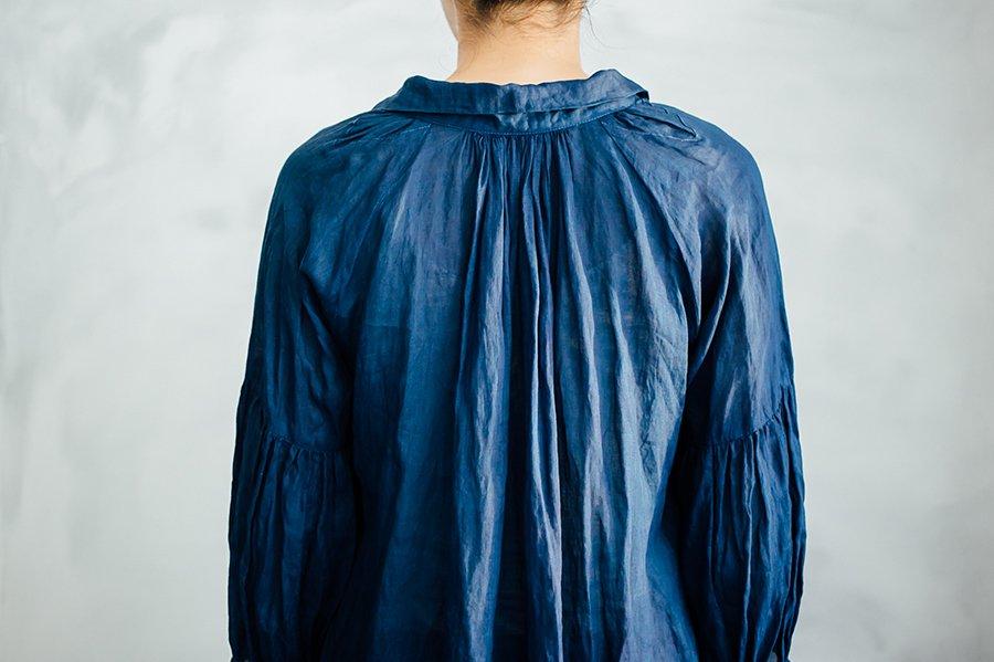 Tabrik 藍染ギャザーワンピースドレス