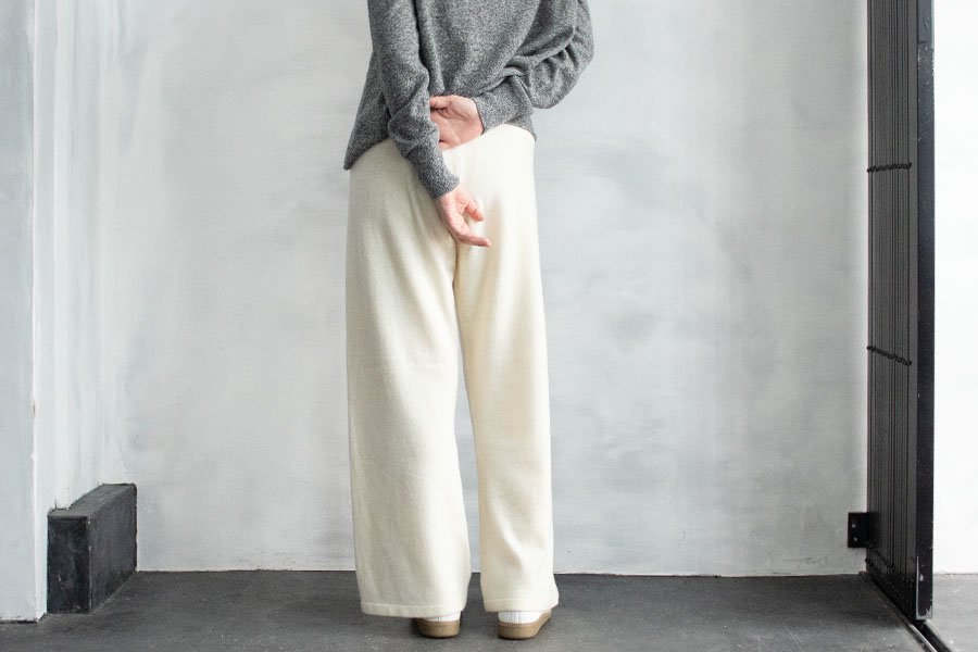 humoresque ニットパンタロン OFF WHITE