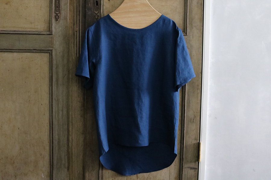 semoh リネンプルオーバーシャツ BLUE