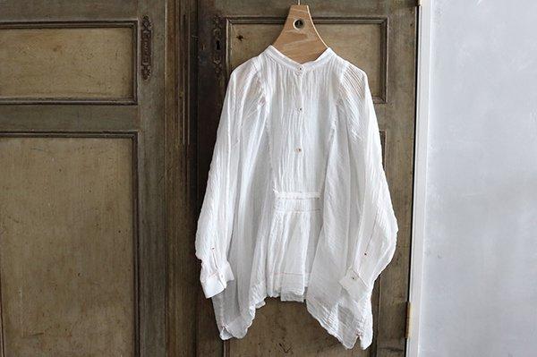 TOWAVASE 「Khadi 」シャツ WHITE×RED