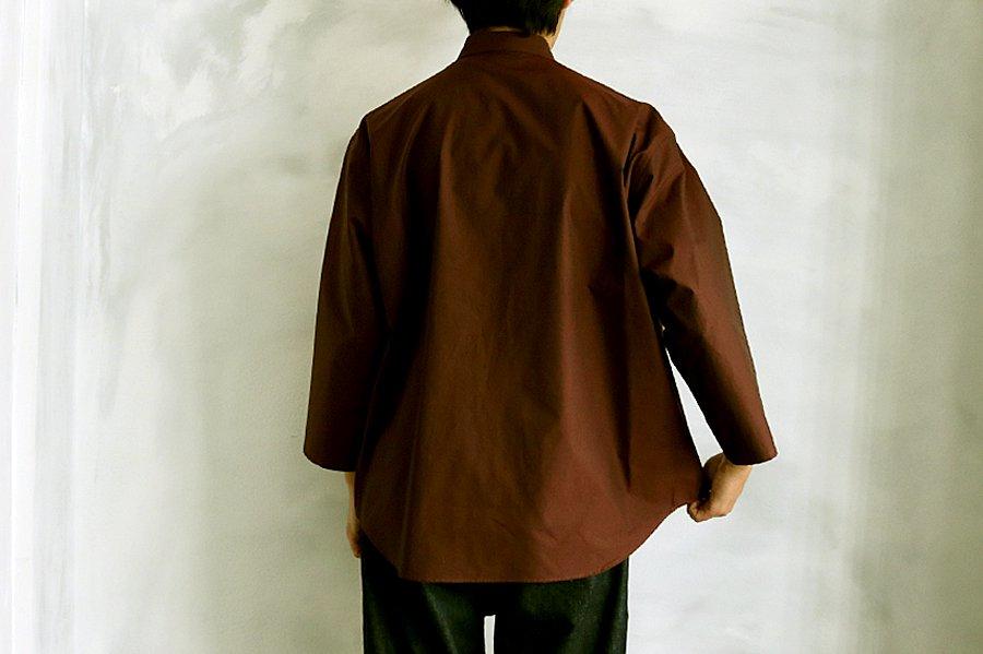 semoh ワイドシャツ BURGUNDY