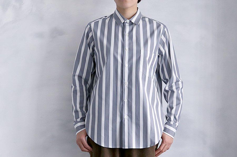 semoh ストライプシャツ GRAY