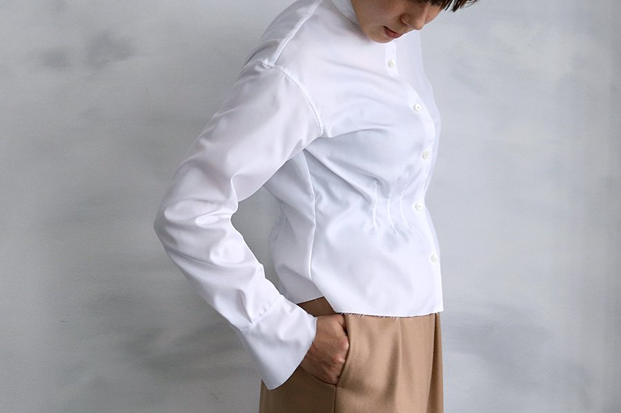 semoh フリルシャツ WHITE