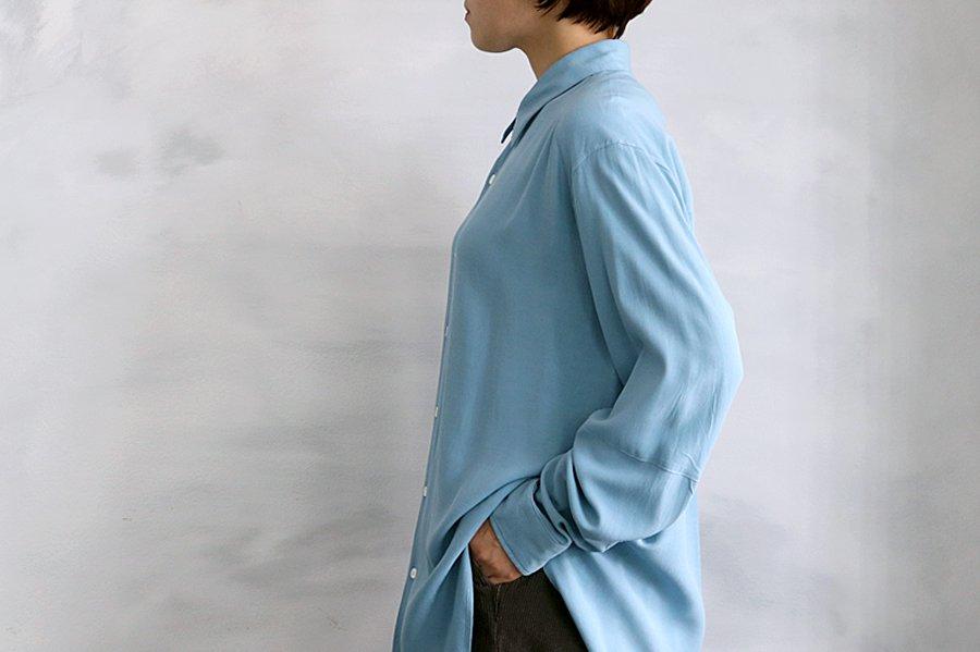 semoh レーヨンシャツ BLUE