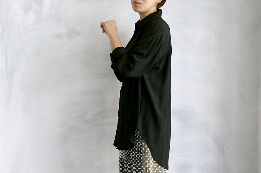 semoh レーヨンシャツ BLACK