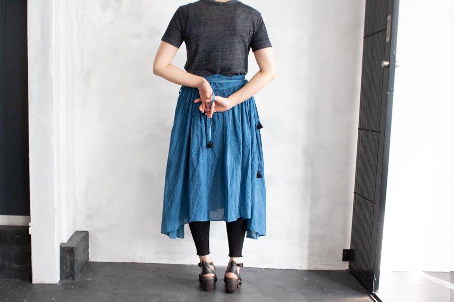 Tabrik 藍染巻きスカート