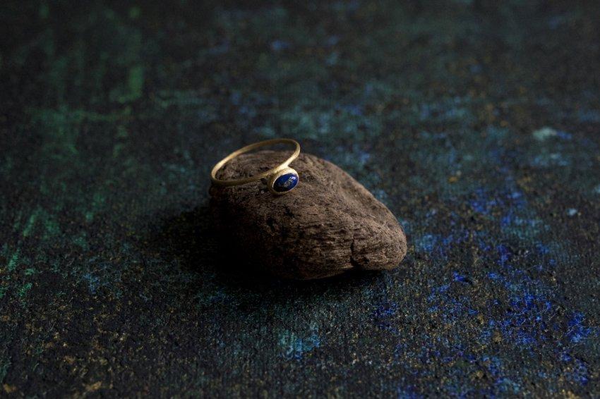 muska yinyang Lapis lazuli リング