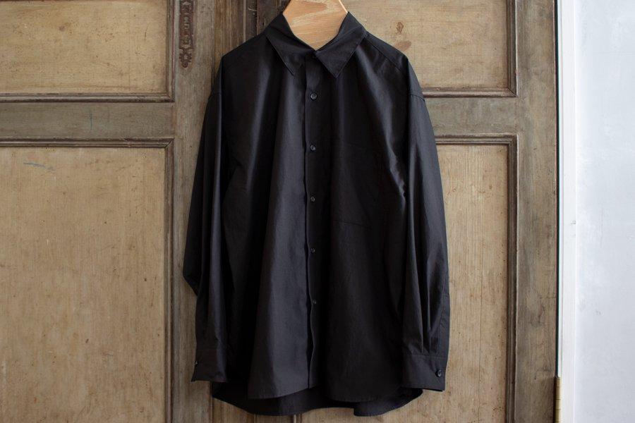 WIRROW レギュラーカラーシャツ BLACK