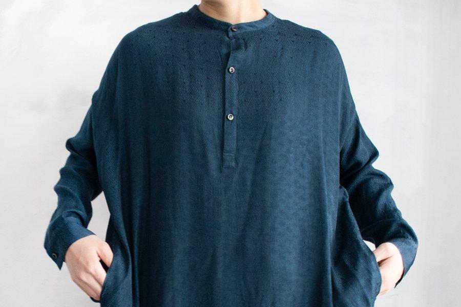 WONDER FULL LIFE ノベルロングシャツ DEEPGREEN