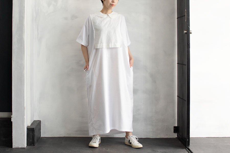 WIRROW ワイドTシャツドレス WHITE
