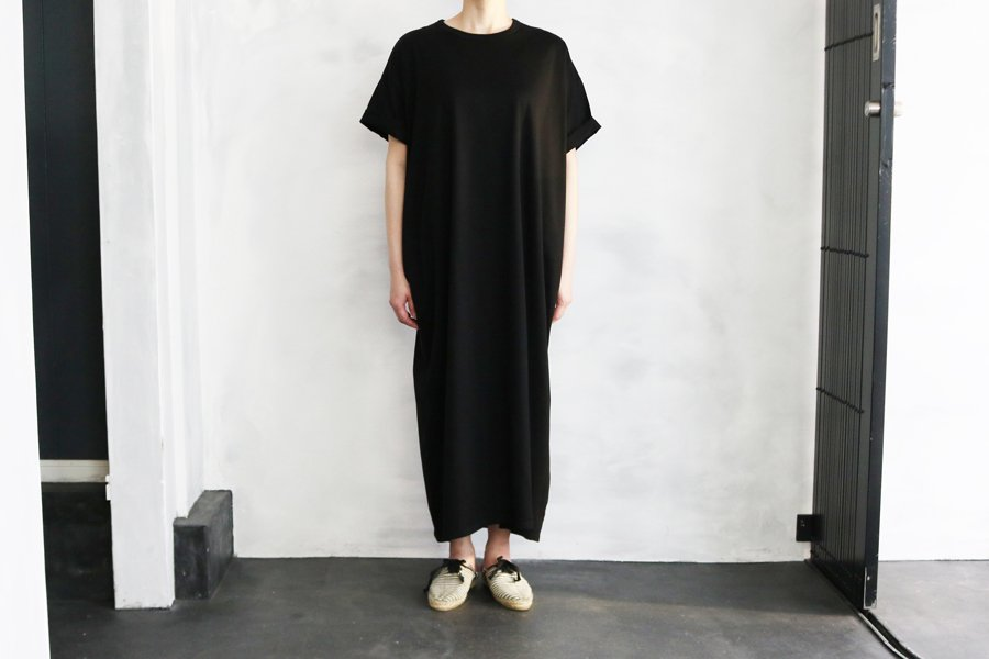 WIRROW ワイドTシャツドレス BLACK