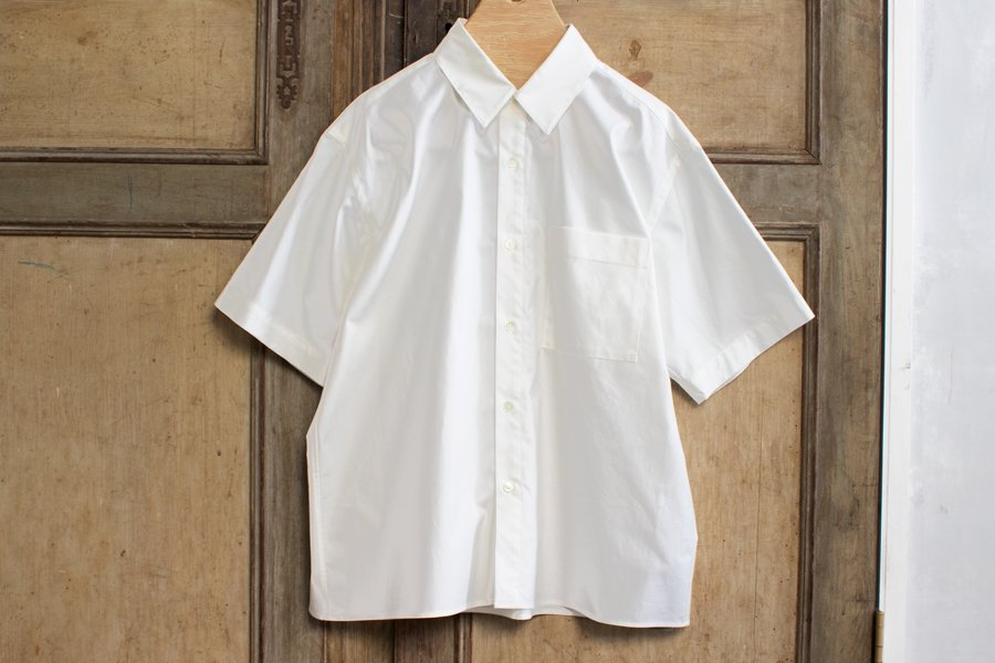 WIRROW ハーフスリーブシャツ WHITE