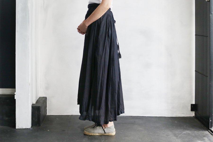 Tabrik 濃泥藍染巻きスカート