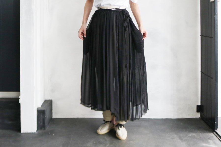 Tabrik プリーツ巻きスカート BLACK
