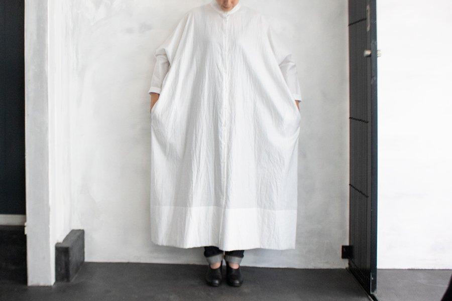 humoresque スタンドカラードレス SMOKE WHITE
