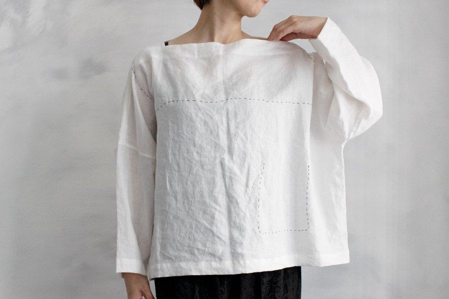 TOWAVASE 「Pecheur」シャツ WHITE(BLACK ST)