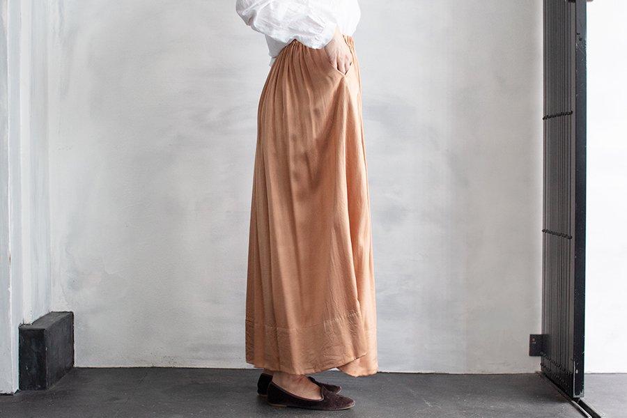 humoresque ギャザースカート TERRACOTTA