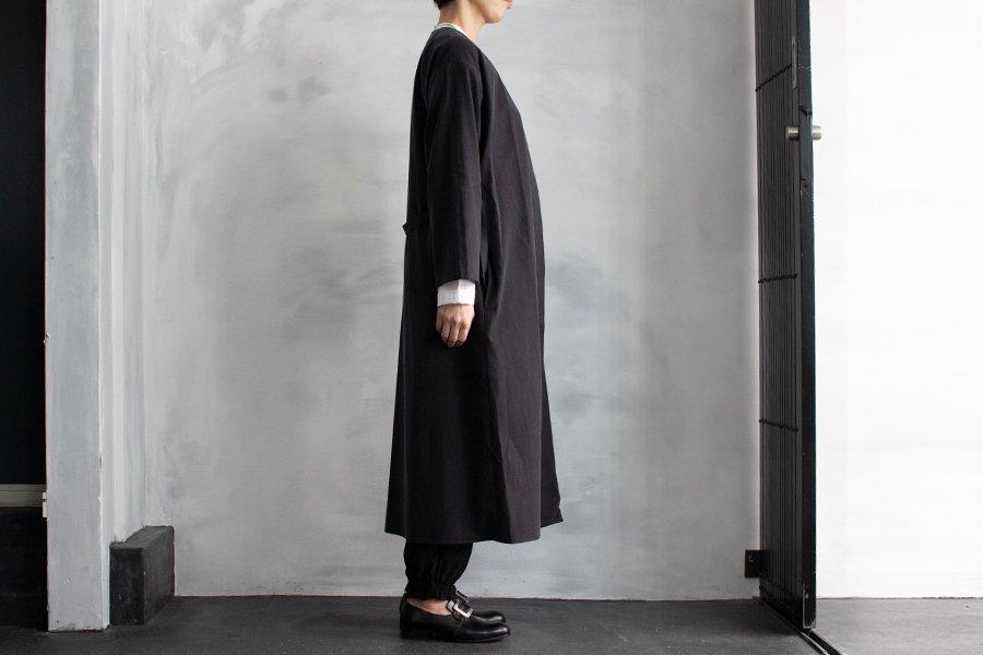 semoh ノーカラーコート BLACK