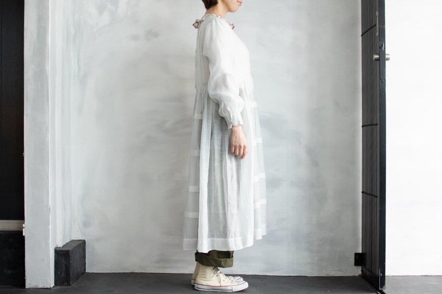 BUNON Khadi タックドレス WHITE