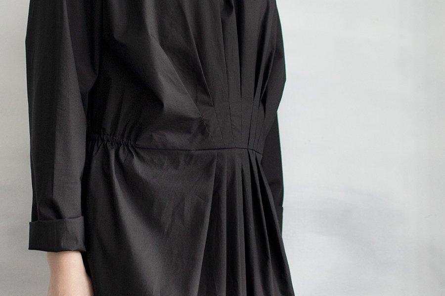 humoresque フロントタックドレス BLACK