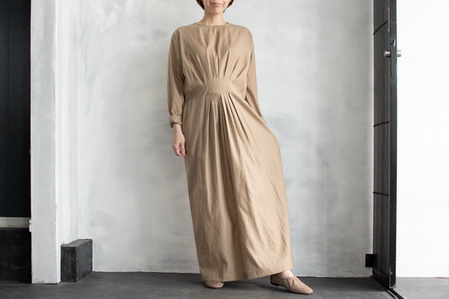 humoresque フロントタックドレス BEIGE