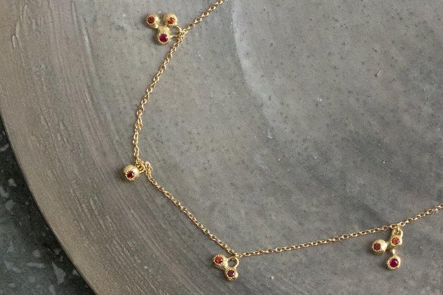 muska nar Pomegranate charm ネックレス