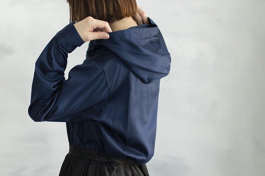 semoh フードシャツ BLUE