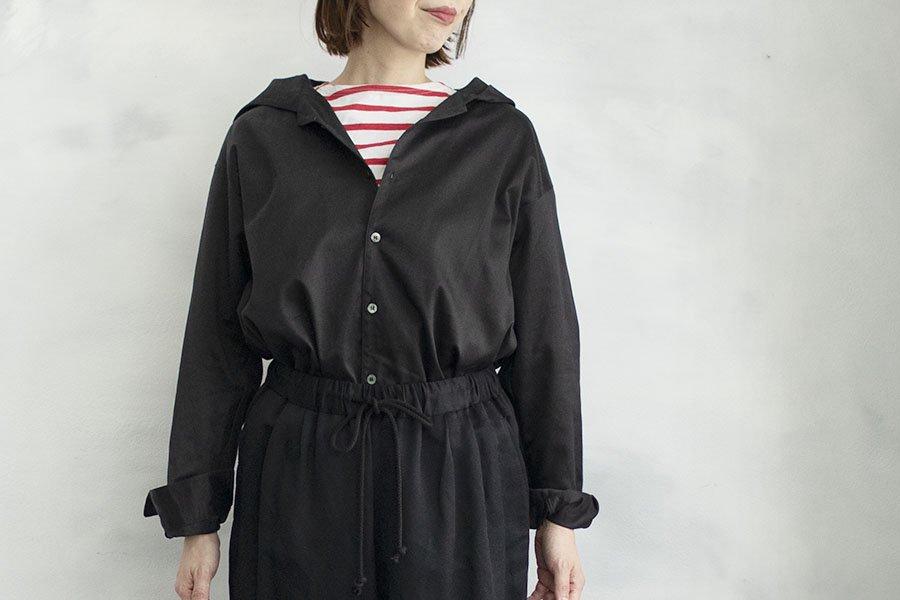 semoh フードシャツ BLACK