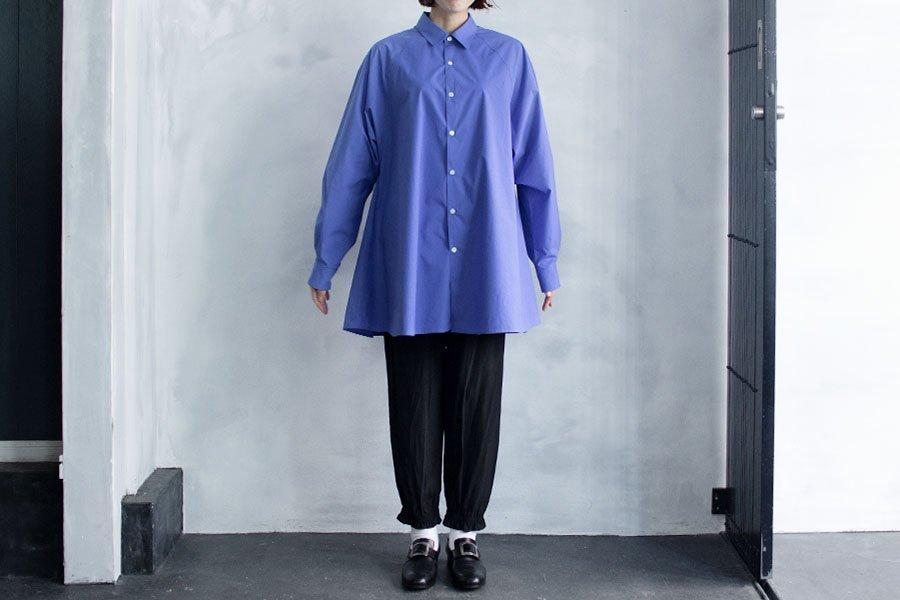 semoh ラグランスリーブロングシャツ BLUE