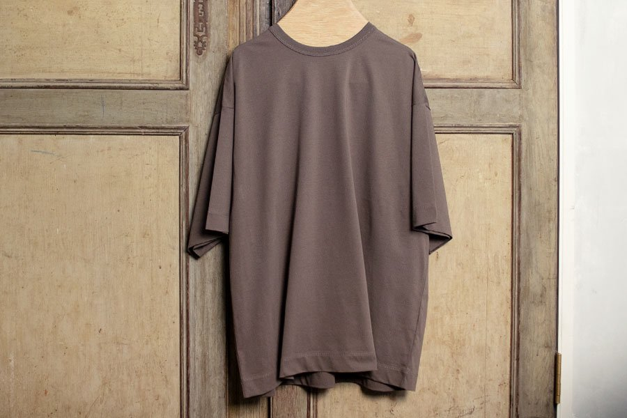 WIRROW オーバーTシャツ GRAY BROWN