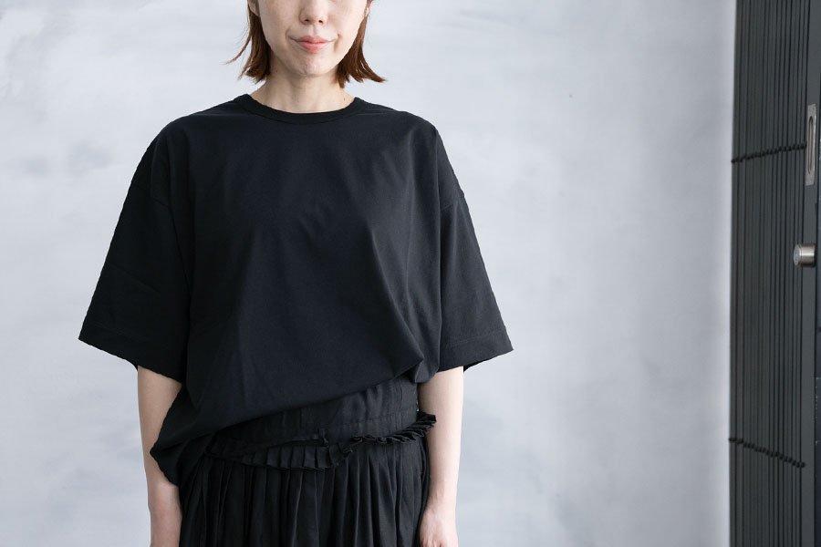 WIRROW オーバーTシャツ BLACK