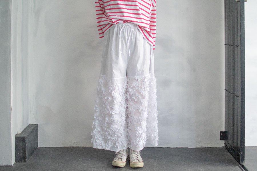 TOWAVASE  「Anne」パンツ WHITE