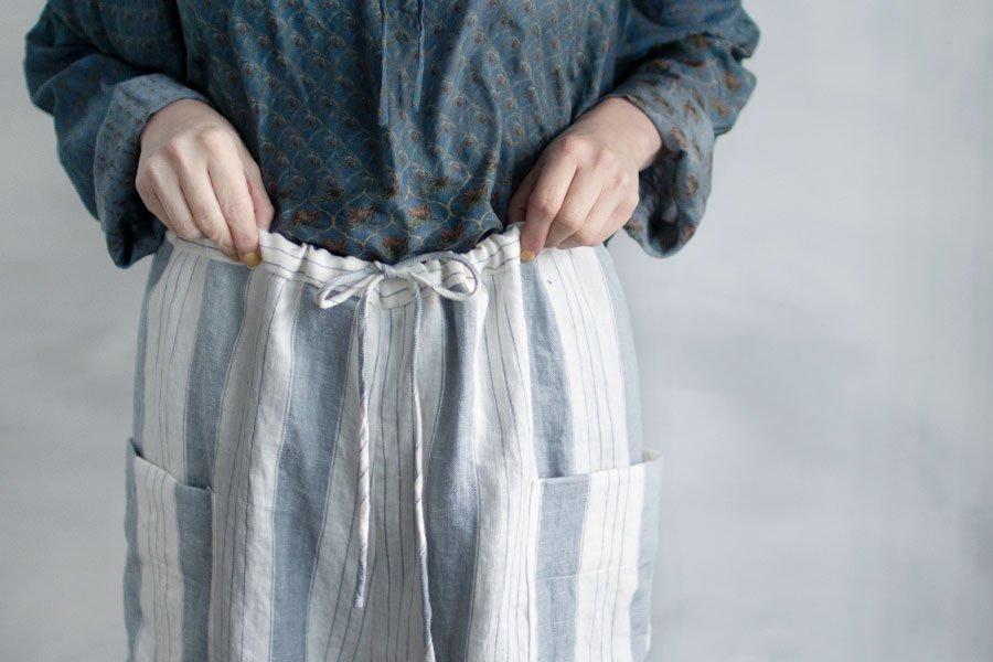 TOWAVASE 「Vetements de travail」パンツ BLUE STRIPE