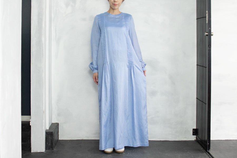 humoresque ロングタックドレス SAXE BLUE