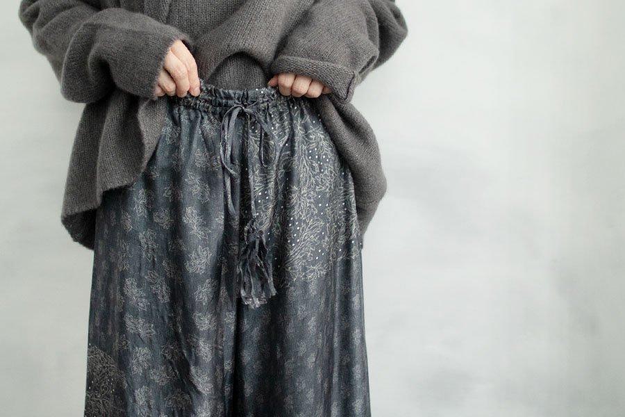 TOWAVASE 「Sarasa」パンツ BLACK