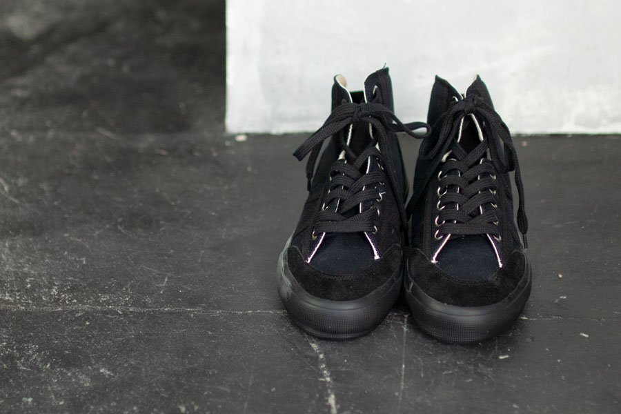REPRODUCTION OF FOUND  ITALIAN MILITARY TRAINER BLACK
