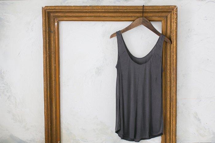 COCOONA skinwear キャミソール CHARCOAL