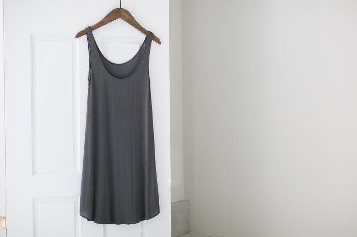 COCOONA skinwear スリーブレスドレス CHARCOAL
