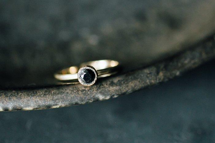 Reserve ブラックダイヤモンリング