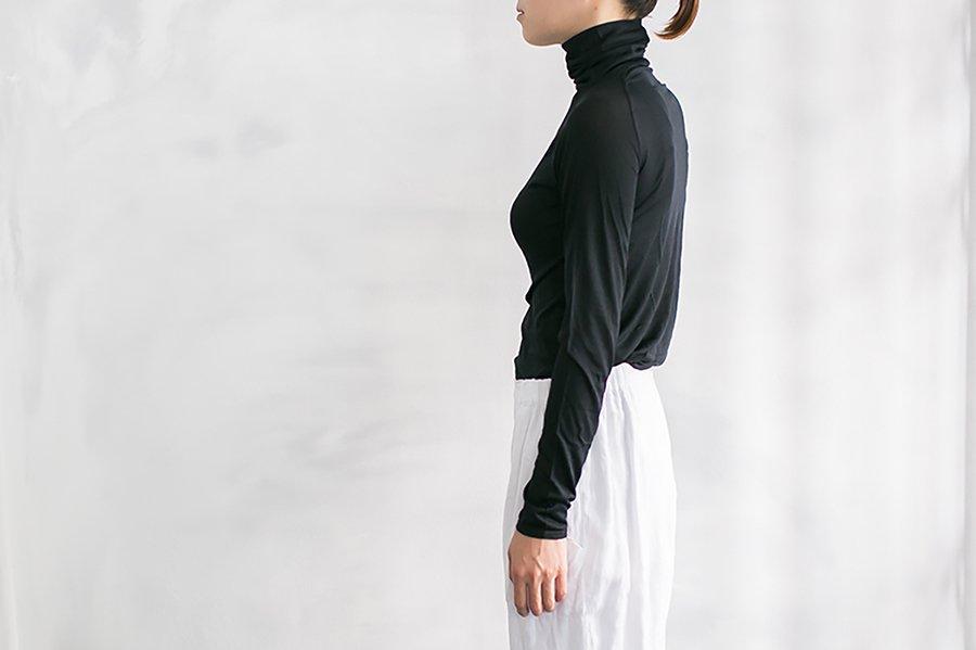 COCOONA skinwear ロングスリーブタートル BLACK