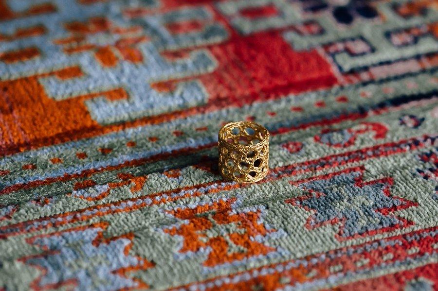 Rubus リコレクションレース リング イエローゴールド