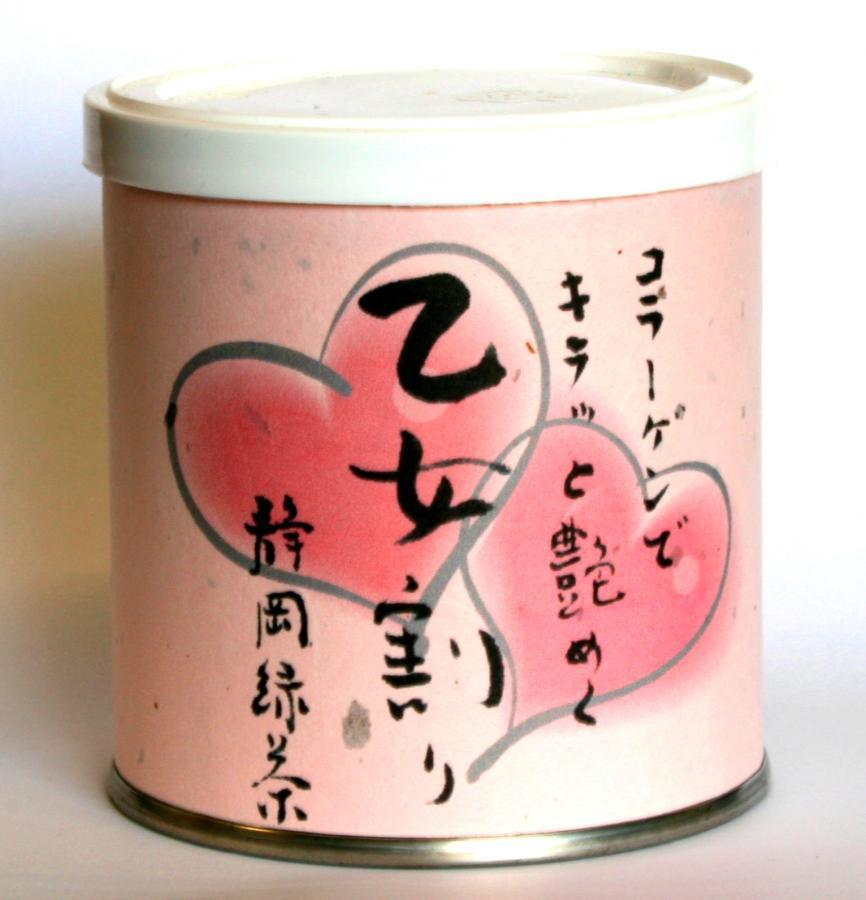 乙女割り粉末茶 50g缶入