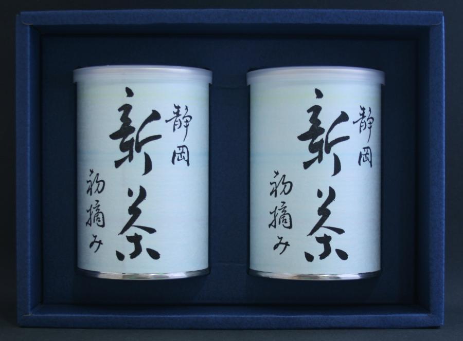 特上煎茶 新茶初摘み100g2本缶詰入りセット