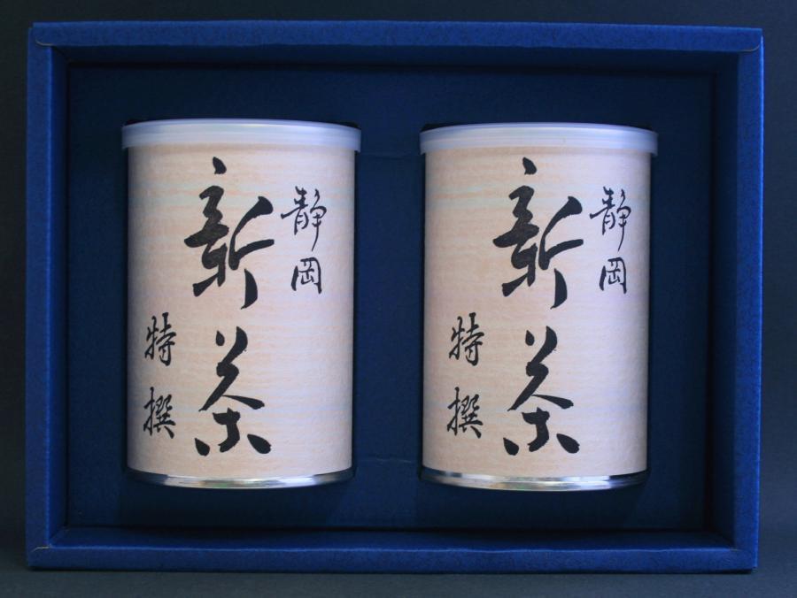 上煎茶 新茶特選100g2本缶詰入りセット