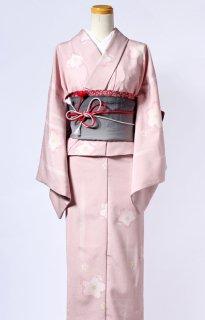 レンタル_K39:ピンク地桜柄[F]×グレー桐麻柄アレンジ帯