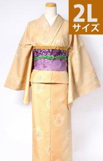 レンタル_K48:からし地市松柄[2L]×紫地桜アレンジ帯